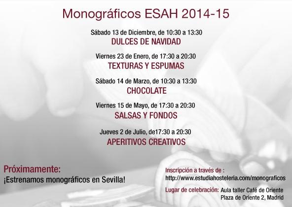 Calendario Monográficos ESAH 14-15