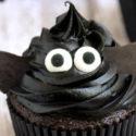 cupcakes de halloween de chocolate y macadamia
