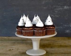 cupcakes de halloween de fantasmas