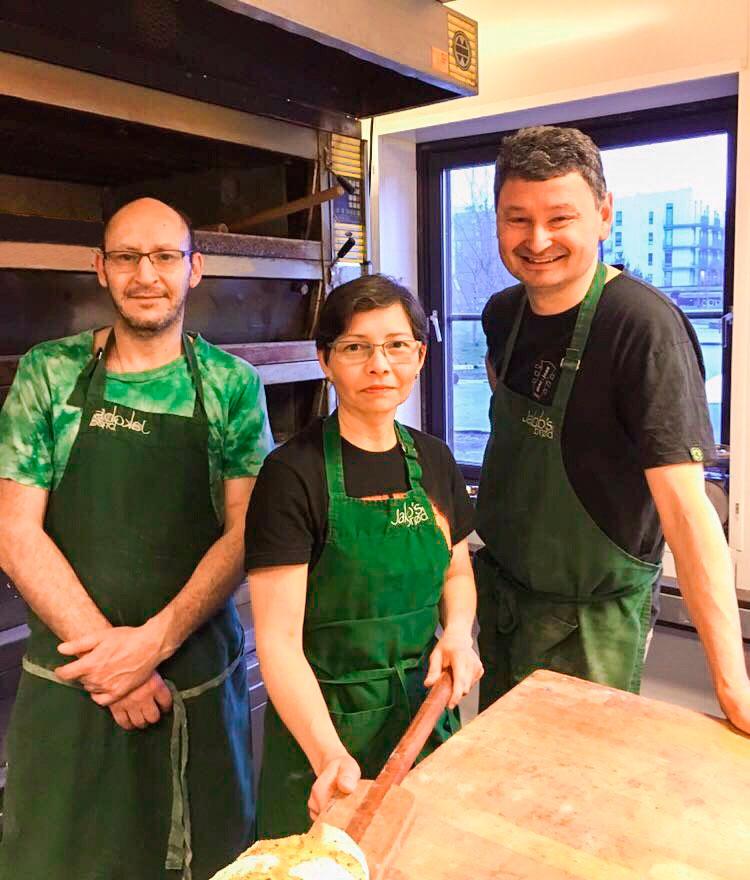 Marcelo, Ibis y Jakob en Jakob's Brød