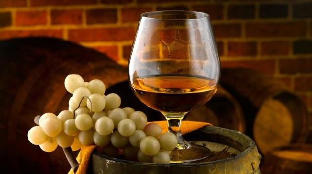 uvas y cognac