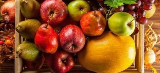 frutas de temporada otoño