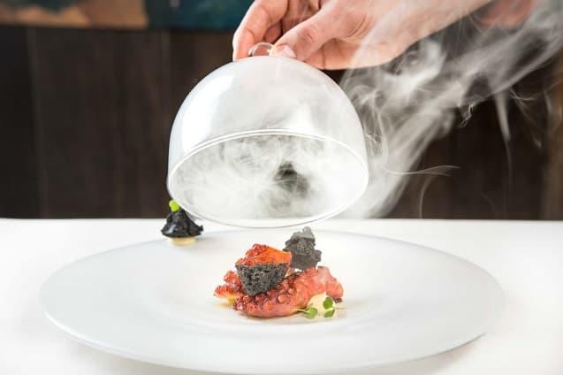 plato moderno de alta cocina