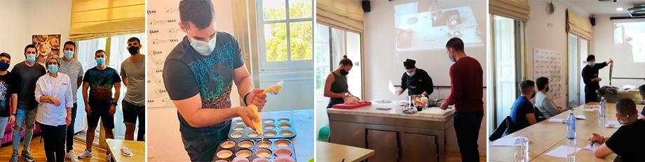 contingente del ejército se forma en las cocinas de ESAH