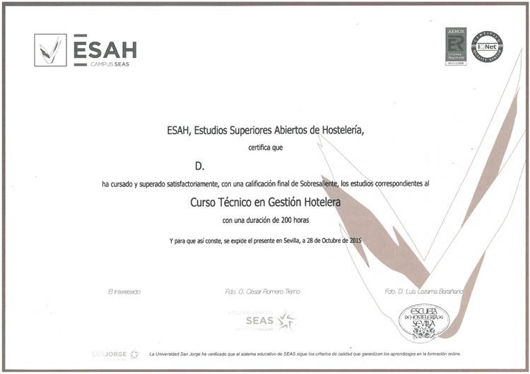 Titulación ESAH
